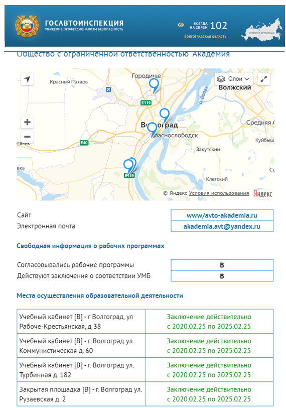Информация сайт ГИБДД 2020
